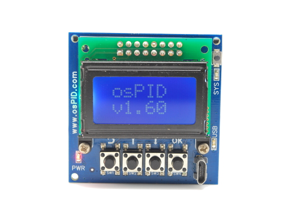 osPID Firmware Revision on LCD