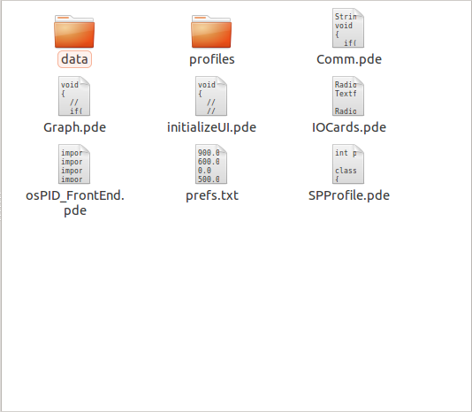 Not Compiled Frontend Profile Storage